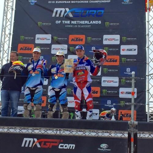 Josiah Natzke takes 2nd Championship Overall in EMX 125cc MX Euro Series 2015