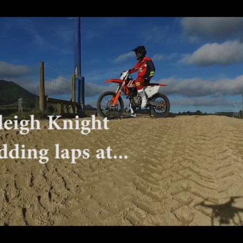 Hadleigh Knight shredding laps at TaupoMCC track- Digger McKewen Park