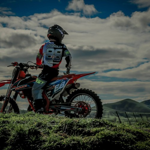 Brodie Connolly pre- FIM Junior MX World Championship 2018