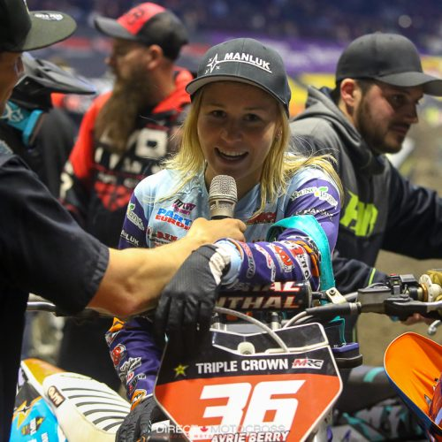 Avrie Berry: racing in between WMX Rounds- Europe and USA Triple Crown Women's Arena Cross