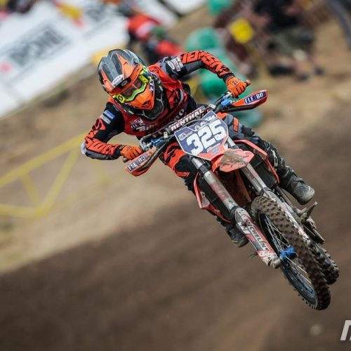 Sara Andersen scores 3rd in Race 1 WMX Round 3 at Loket- great result at 17 years old