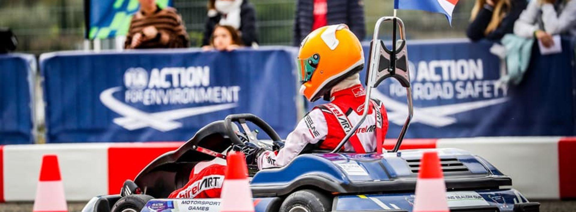 Nina Pothof achieves winning success at 2019 FIA Motorsport Games Karting Slalom – Gold Medal at 16 years of age