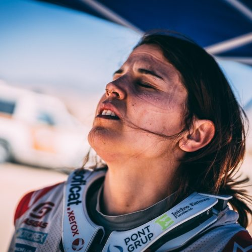 Dakar Rally Stage 2 complete- Women Bike, Car, SSV- dust, stones, falls, road-books and making it to bivouac before dark!