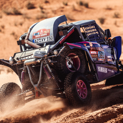 Annett Fischer and Camelia Liparoti speak on racing Dakar Rally 2021 to half-way point in Lightweight Prototype category