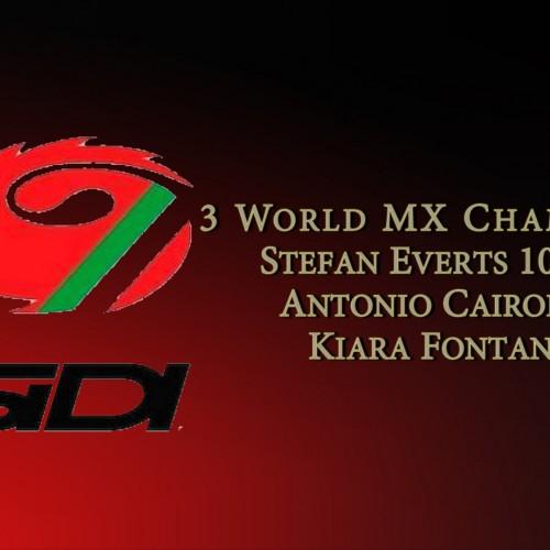 Sidi- Remarkable feat 3 FIM World Motocross Champions