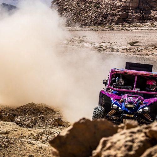 Camelia Liparoti and Annett Fischer compete in 2021 Dakar Rally in SSV category