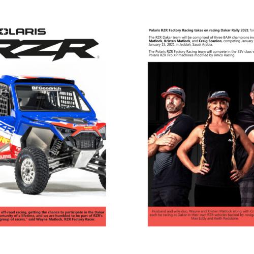 Kristen Matlock competes in Dakar Rally 2021 with Polaris RZR Factory Racing