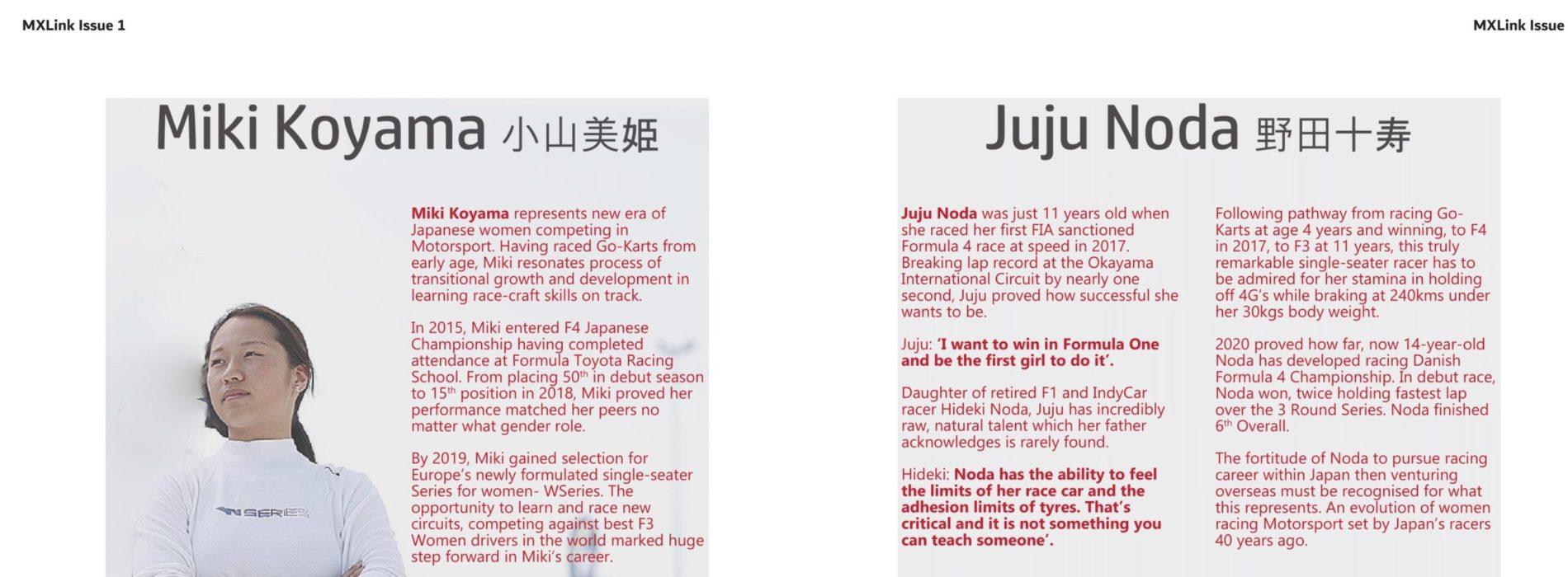 Japanese Women competing in Motorsport