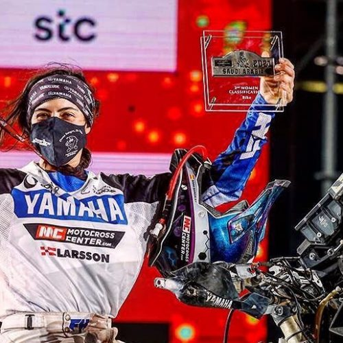 Sara Garcia- only female to race and finish Dakar Rally Malle Moto 2021