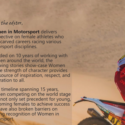 Women in Motorsport Magazine- what's in Issue One and why?