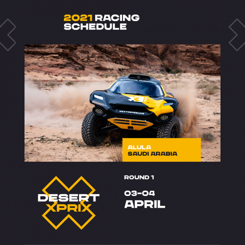 Extreme E Desert X Prix Round 1 of 5 is set to go green- literally- this coming weekend April 3-4th
