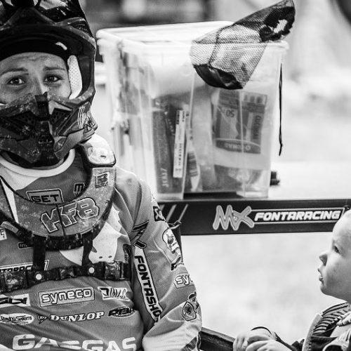 Kiara Fontanesi racing WMX as a rider and Mum- making history too!