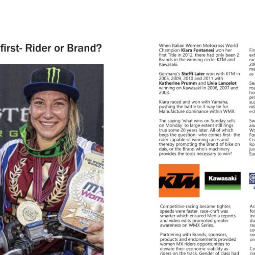 Which comes first- Rider or Brand? or Partnerships?